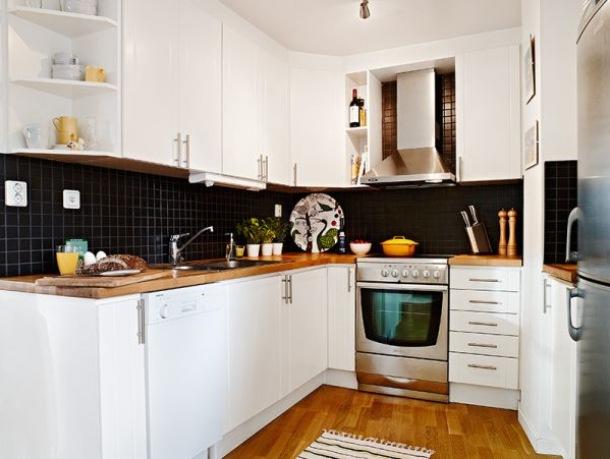 mala kuchnia w kształcie podkowy  zdjęcie w serwisie   -> Kuchnia U Edyty Mala Nieszawka