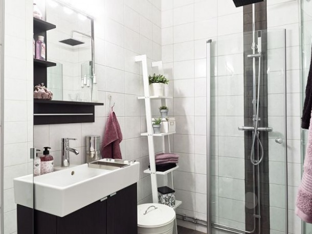 pomysł na łazienkową półkę