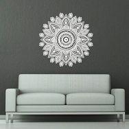 Naklejka na ścianę - marokański wzór, okrągły kwiat