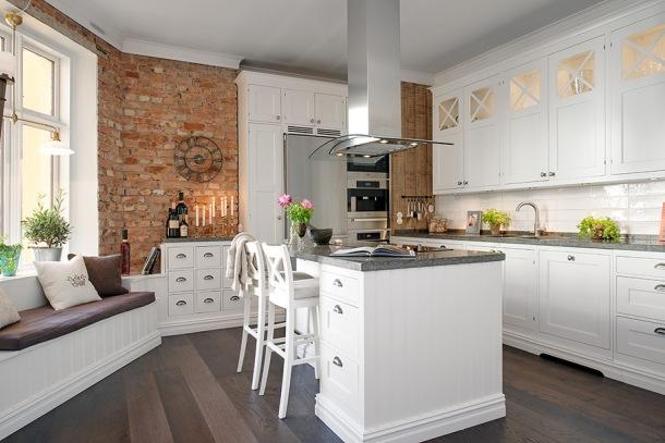 Kuchnia w stylu angielskim  zdjęcie w serwisie Lovingit   -> Kuchnia Tapeta Krata